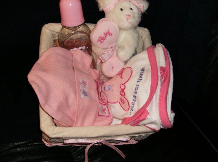newborn girl basket