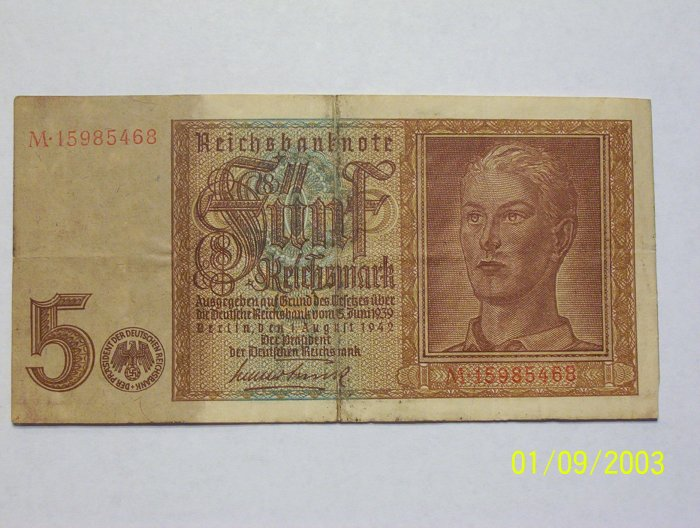 5 German Marks