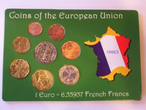 French Designed Euro coin set