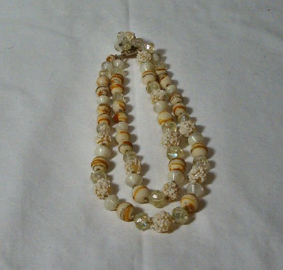 Double Strand 40's Mixed Bead necklace