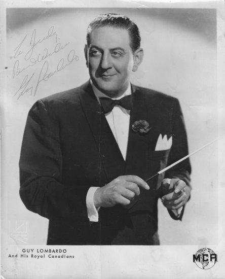Guy Lombardo 8x10 B&W Signed Photo