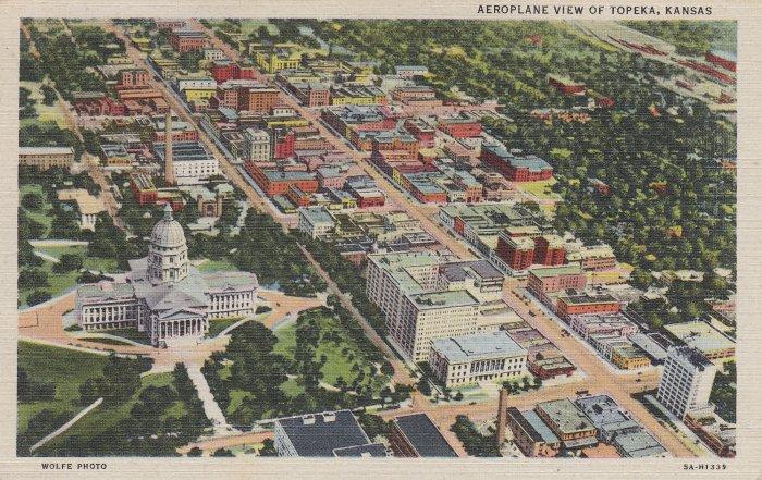 Topeka KS Linen Postcard.  11-7-45