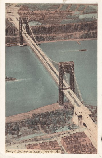 George Washington Bridge postcard 1935