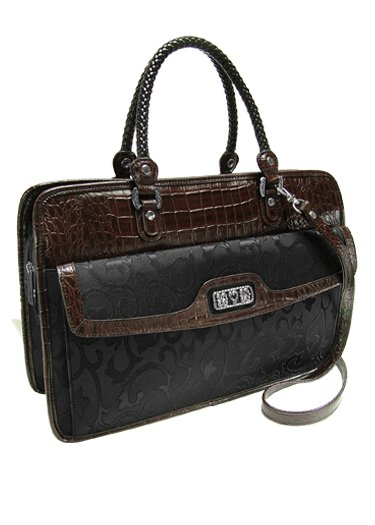 Genuine Leather Briefcase- Brighton inspired