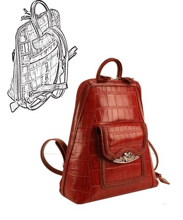 Brighton Inspired- Toulon Genuine Leather Backpack