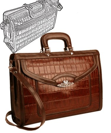 Brighton Inspired- Toulon Genuine Leather Briefcase