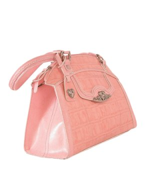 Brighton Inspired- Pink Toulon Genuine Leather Handbag