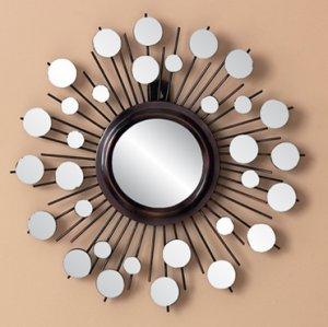 Cosmic Sunburst Metal Mirror Wall Decor Art Hanging