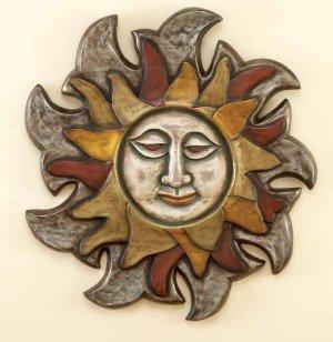 Mayan Sun Face Wall Decor Plaque Hanging Sculpture Art