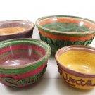 Set of 4 Vintage 1960's Snack Bowls String Wrapped