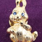 Gold Rabbit Pin Brooche