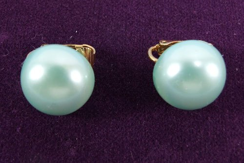Icy Pastels Clip Earrings by Avon from the 1980s clip-on