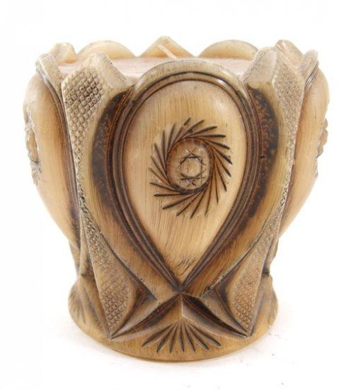 Decorative Vase Candle Woodtone