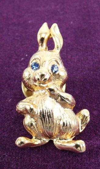 Gold Rabbit Pin Brooche