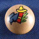 Round Wooden Buttons with a Southwestern Theme