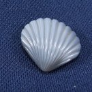 Silver Sea Shell Button