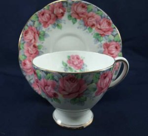 Royal Standard Rose of Sharon Cup and Saucer