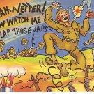 Now watch me slap those Japs WWII cartoon postcard 1943