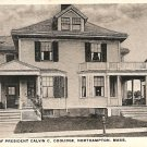 Residence of President Calvin Coolidge Northampton Mass Postcard