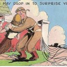 World War II ear cartoon postcard