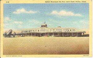 Dallas Municipal Air Port Love Field Texas Postcard Airport