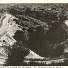 Hair Pin Curve on Highway 77 Turner Falls Okla Postcard