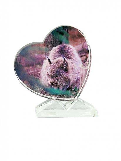 Heart Crystal w/V-notched base - 90mm x 85mm x 15mm
