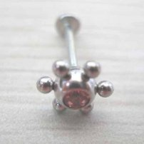 Korean 316L Surgical Stainless Steel Tongue Ring  (lib)