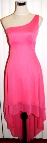 pink star prom dress