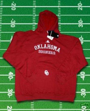 Oklahoma Sooners Football ADIDAS Hooded Sweatshirt Hoodie Hoody