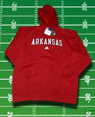 ARKANSAS RAZORBACKS ADIDAS Hooded Sweatshirt Hoodie HOODY L or XL