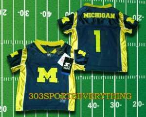 BRAYLON EDWARDS MICHIGAN Jersey Toddler Jersey #1 Toddler Football Jersey 2T, 3T, or 4T