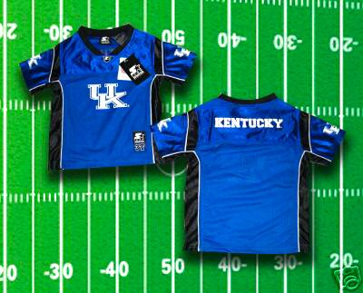 KENTUCKY WILDCATS INFANT BABY FOOTBALL JERSEY 12Mo, 18 Mo, or 24 Months