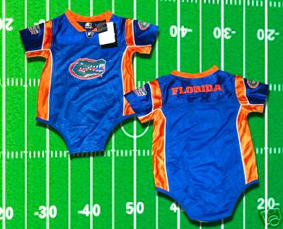 FLORDIA GATORS TEBOW INFANT BABY FOOTBALL JERSEY 12 Mo, 18 Mo, or 24 Months