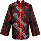 Men's Mandarin Jacket - Fortune Icons (Red Piping)