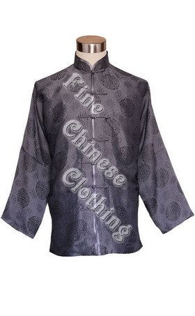 Men's Mandarin Jacket - Happiness Icons