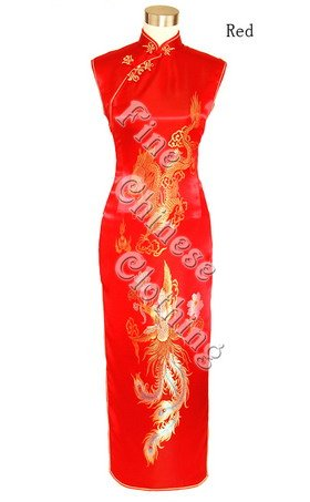 Chinese Long Dress - Dancing Dragon & Phoenix Couple
