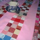 Country Style Table Cloth Hand quilted Pink