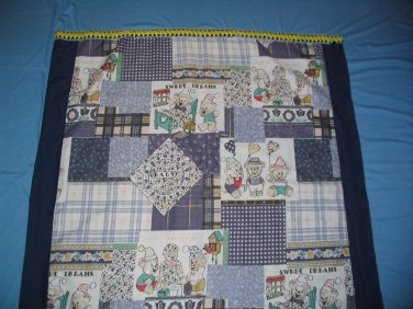 Curtain Kid's Room Blue Three Bears New One Panel