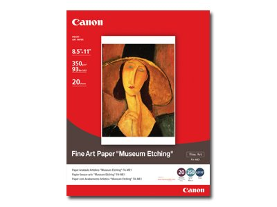 """Canon Fine Art Museum Etching Paper, 8.5"""" x 11"""", 20 Count"""