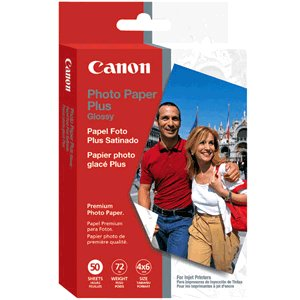 """Canon Glossy Photo Paper Plus, 4"""" x 6"""", 50 Count"""