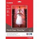 """Canon Fine Art Photo Rag Paper, 8.5"""" x 11"""", 20 Count"""