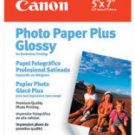 "Canon Glossy Photo Paper Plus, 5"" x 7"", 20 Count"