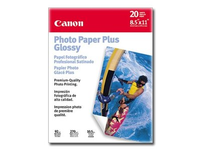 "Canon Glossy Photo Paper Plus, 8.5"" x 11"", 20 Count"