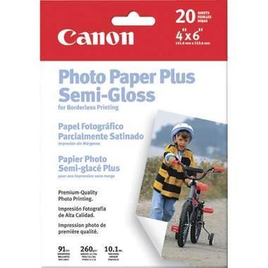 """Canon Photo Paper Plus Semi-Gloss, 4"""" x 6"""", 50 Count"""