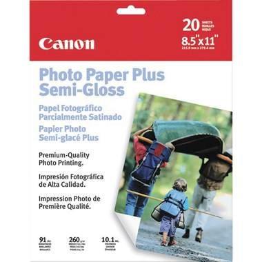 """Canon Photo Paper Plus Semi-Gloss, 8.5"""" x 11"""", 20 Count"""