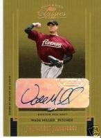 2005 Donruss Classics Wade Miller Autograph Card