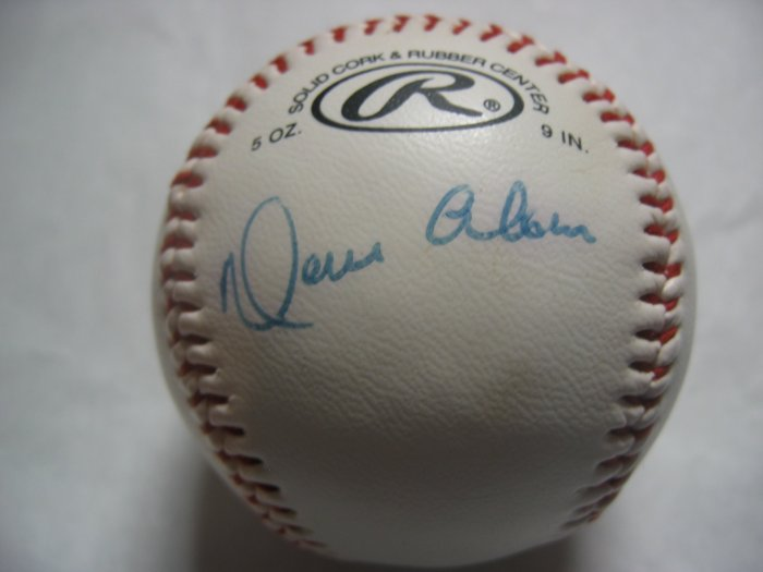 Moises Alou signed Official League baseball