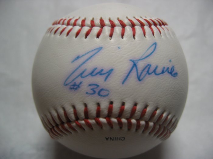 Tim Raines Autographed Official League Baseball