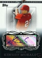 Topps Moment Milestones Kendry Morales Autographed Card